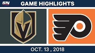 NHL Highlights | Golden Knights vs. Flyers - Oct. 13, 2018
