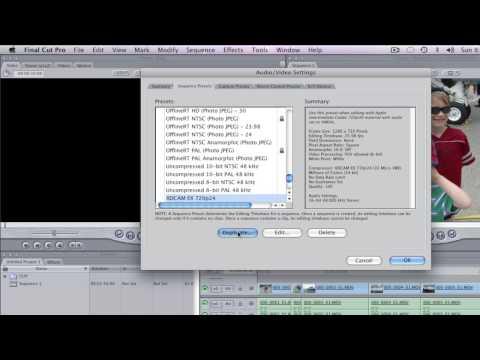 Tutorial: HM100/700, .MOV & Final Cut Pro 5.1