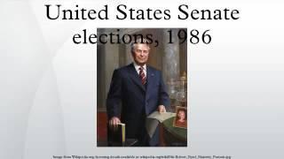 United States Senate elections, 1986