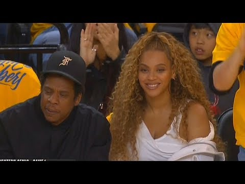 Beyonce Impressed With Kevin Durant and The Warriors While Sitting Courtside with Jay-Z!