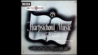 Bach / Mozart / Couperin / Rameau, 1939: Alice Ehlers Performs Harpsichord Works - 1950 Decca LP