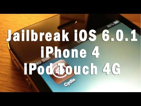 How to Jailbreak iPhone 4 iOS 6.0.1 and iPod Touch 4G iOS 6.0.1 on Windows and Mac
