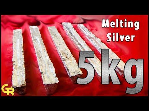 🔥Melting Silver | Silver melting | Melt scrap silver into ingot