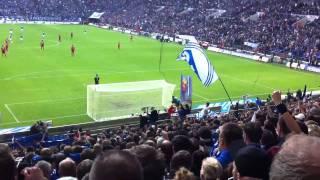Schalke - Bayern 18.9.11 Neuer kommt zur Nordkurve