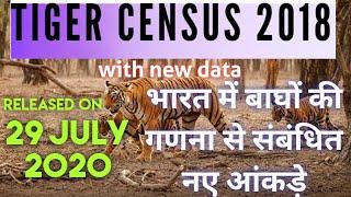 भारत में बाघों की गणना के नए आंकड़े (Updated Tiger census report of India)