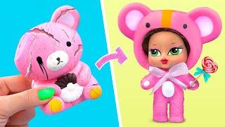Squishy Umstyling/ 10 Barbie und LOL Überraschungs DIY´s
