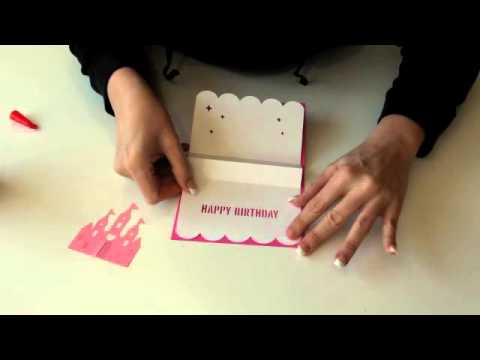 Princess Castle Pop Up Card Youtube