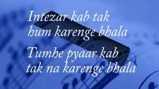 Zindagi Do Pal Ki Karaoke Track with Lyrics