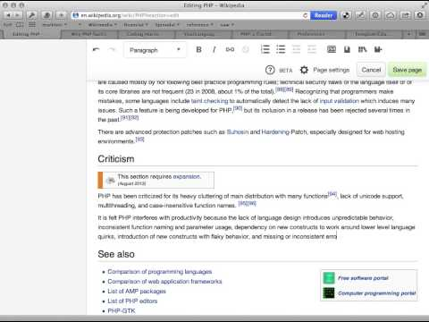 Editing Wikipedia in VisualEditor