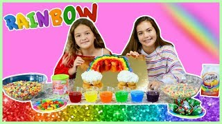 WE ONLY ATE RAINBOW FOOD FOR 24 HOURS | SISTER FOREVER