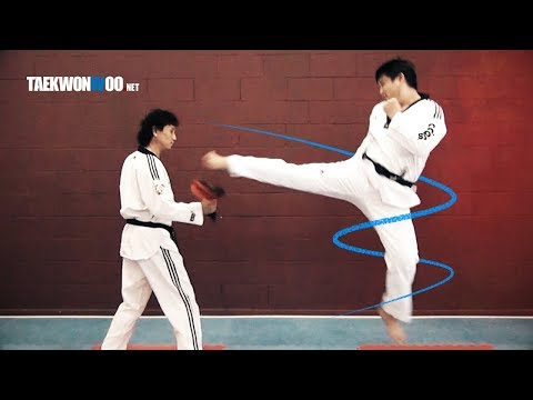 Advanced Taekwondo Tornado Kick Tutorial | Taekwondo Sparring 101 TaekwonWoo