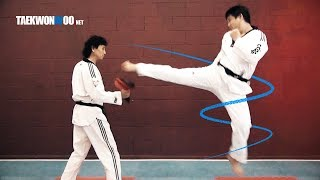 Advanced Taekwondo Tornado Kick Tutorial | TaekwonWoo