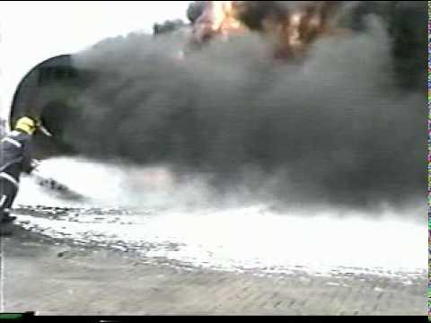 MoD Simulated Aircraft Crash Fire.mpg