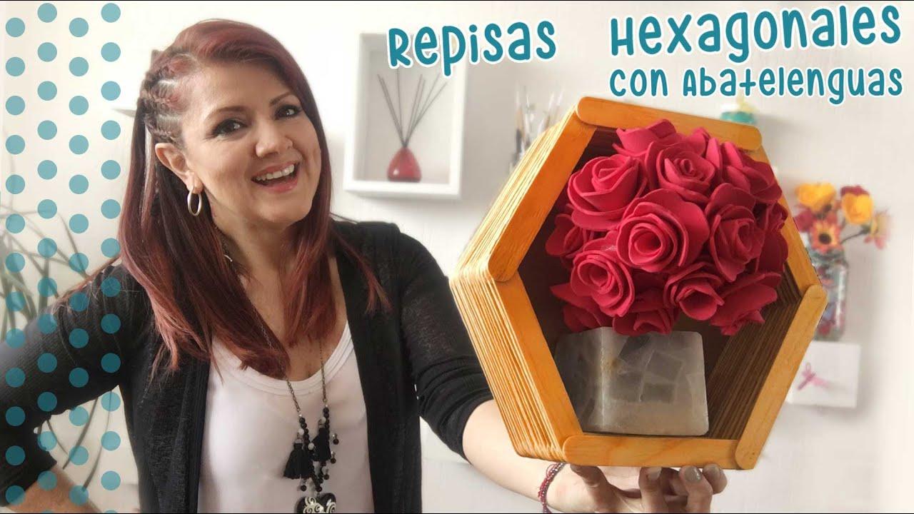 Marcos Hexagonales con Abatelenguas :: Chuladas Creativas - YouTube