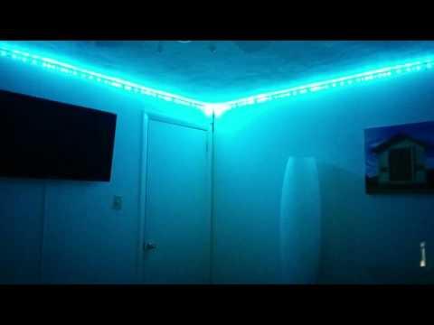 Addressable RGB LED light strip synced to music using ViVi Music LED Controller