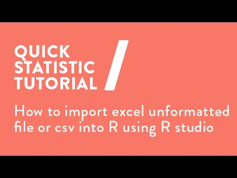 How to import excel unformatted file or csv into R using R studio