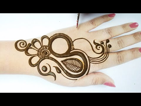 New Stylish Peacock Mehndi Design from Letter S | Simple Full Hand Mehndi Design|सूंदर मोर की मेहँदी