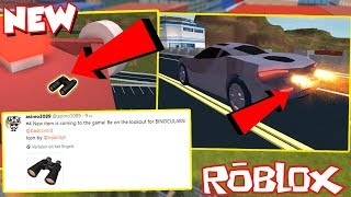 NEW BINOCULARS, MCLAREN SUPER SPEED AND BOX GLITCH UPDATE! - Roblox Jailbreak