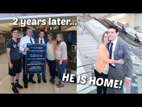 Emotional Missionary Homecoming! (IT'S BEEN 2 YEARS!) // Elder Blackmer.