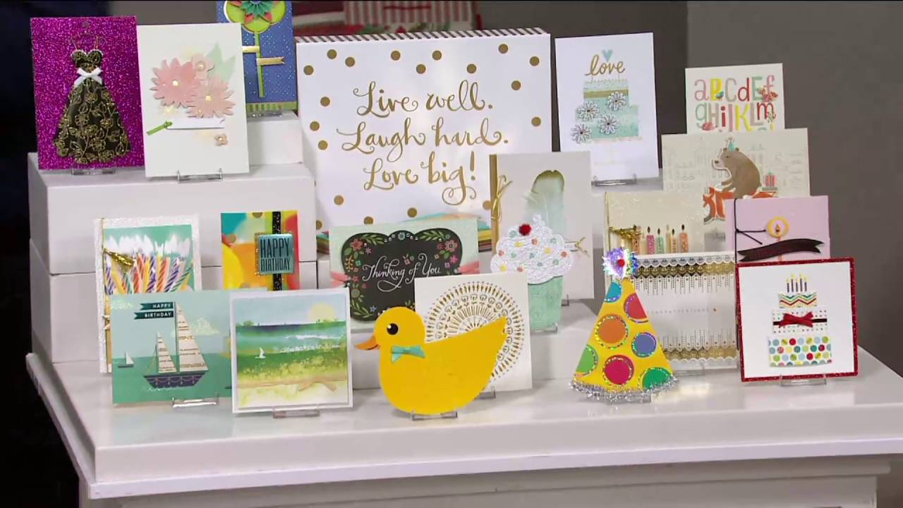 Marvelous Qvc Card Making Ideas Part - 10: Hallmark 24ct Handcrafted Embellished Greeting Card Boxed Set On QVC