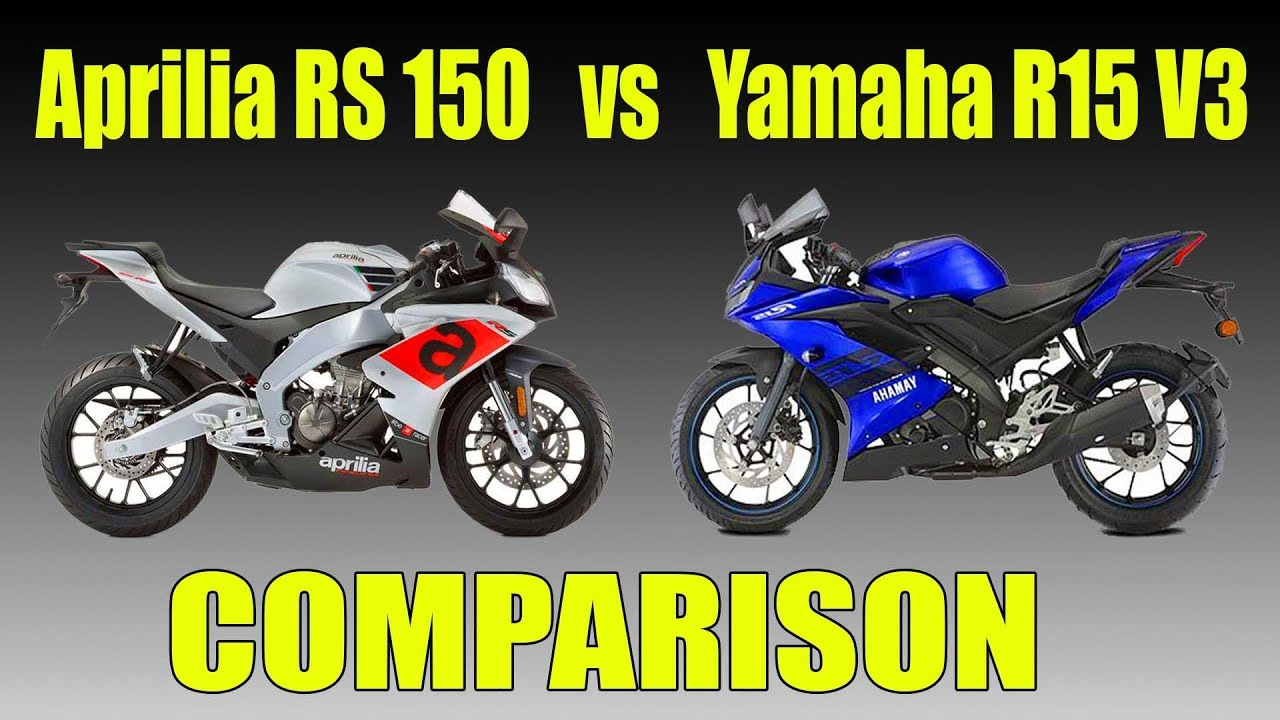 Aprilia RS 150 vs Yamaha R15 V3 Comparison - Head to Head