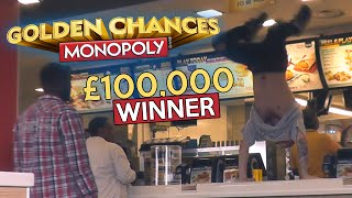 Winning £100,000 at McDonalds Monopoly!