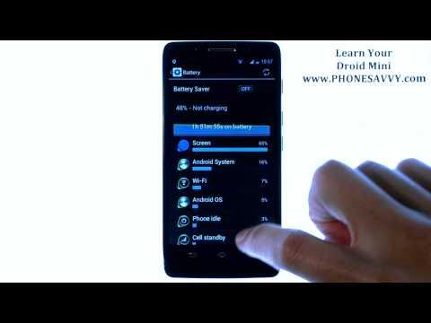 Motorola Droid Mini - How Do I Monitor Battery Life