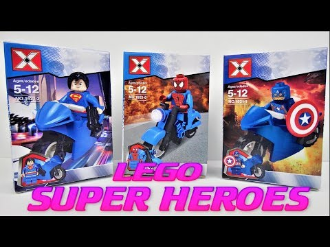 Lego Toys Collection Super Heroes Spider Man Captain America Super