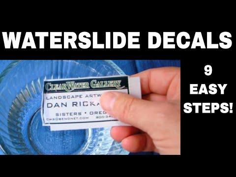 Waterslide Decals - 9 EASY Steps! - YouTube