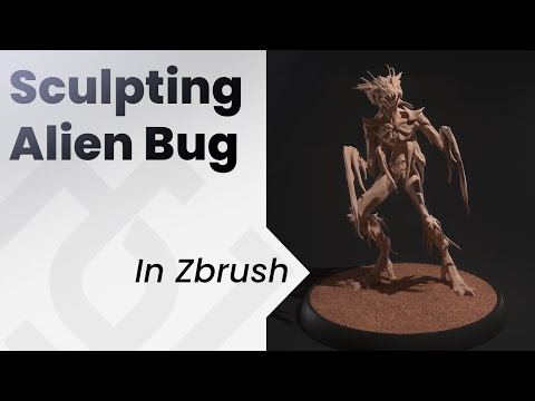 Sculpting An Alien Bug In Zbrush , Concept Art