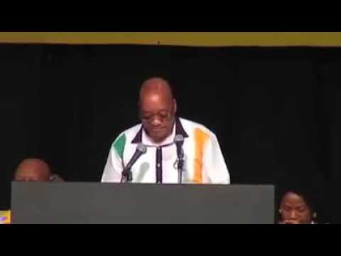 """South African president saying """"in the beginning"""""""