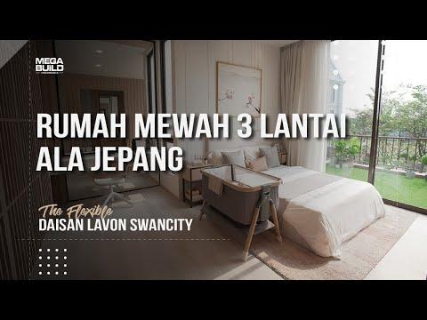 REVIEW RUMAH MEWAH 3 LANTAI ALA JEPANG HARGA 1M-AN - DAISAN LAVON SWAN CITY TIPE THE FLEXIBLE