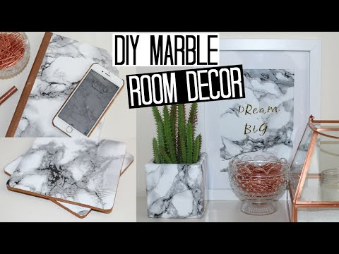 DIY Marble Room Decor - Easy & Affordable!
