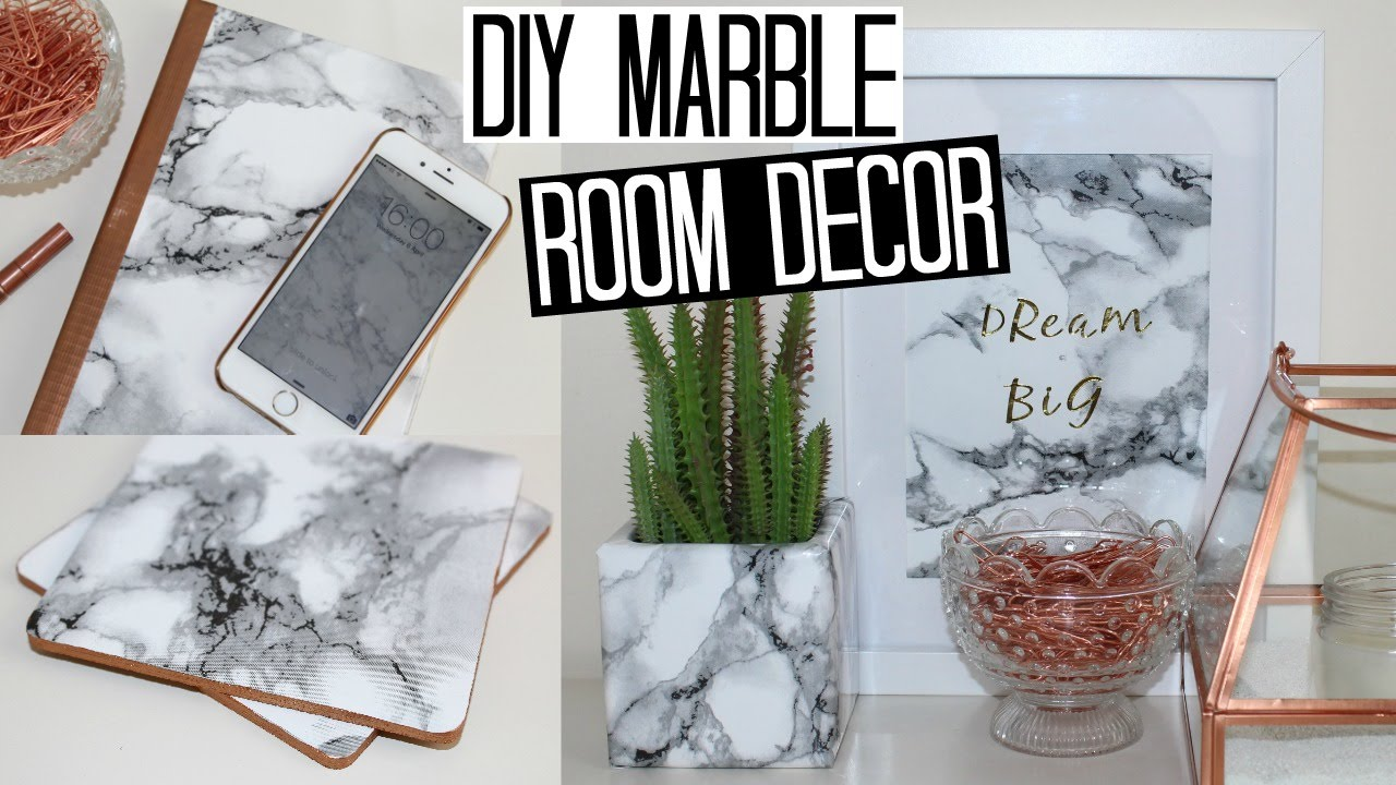 diy marble room decor - easy & affordable! - youtube
