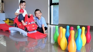 Disney Cars Thomas Indoor Bowling Fun Playtime With Ckn Toys thumbnail