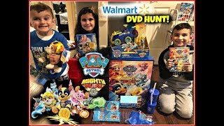 Paw Patrol Mighty Pups Movie Dvd Hunt & Surprise Toys! Kids Walmart Pretend Play! Movie Night Vlog!