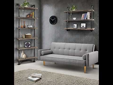 Deal Now Industrial Pipe Shelf Bookcase Shelf Shelves Retro Floating Wood Shelving