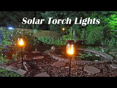 💥 SOLAR TORCH LIGHTS SMARTBOT Dancing Flames (Pathways, Entryways) OUTDOOR LIGHTING REVIEW 👈