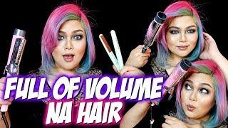 VAVAVOOM NA HAIR TUTORIAL Feat. VODANA GLAMWAVE CURLING IRON | Bing Castro