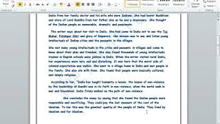 India Through a Traveller's Eye Summary in Hindi and English