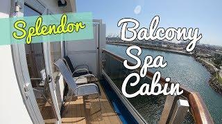 Carnival Splendor Balcony Spa Cabin Tour