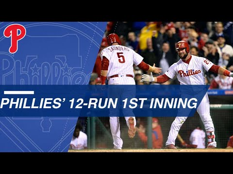 Phillies Erupt For 12 Runs In The 1st Inning