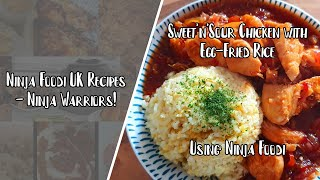 Ninja Foodi UK Recipes  Sweet and Sour Chicken with Egg Fried Rice