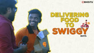 Delivering Food to Swiggy - One Day Swiggy Boy | Abhistu