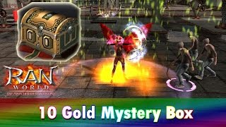 RAN WORLD: Opening 10 Gold Mystery Box!!! (Tagalog)