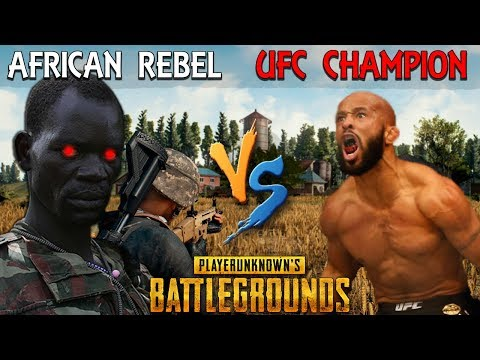 African Rebel SCARES the UFC World Champ on PUBG - Demetriou