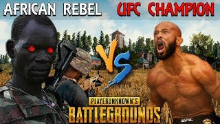 African Rebel SCARES the UFC World Champ on PUBG - Demetrious Johnson