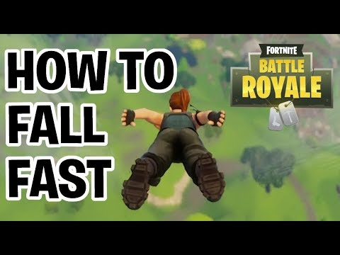 HOW TO FALL FAST/LAND FASTER | FORTNITE BATTLE ROYALE SOLO, DUO+SQUAD TIPS & TRICKS
