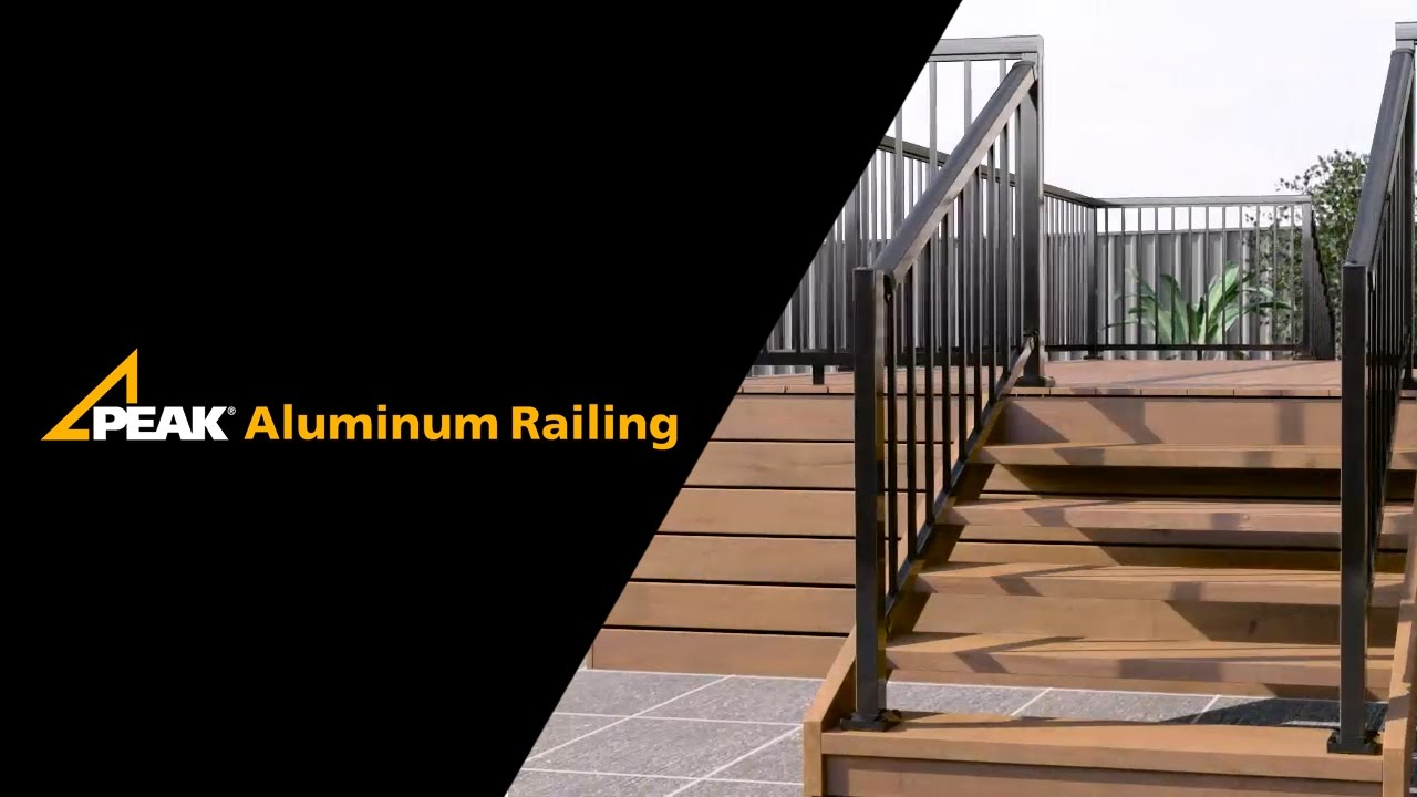 Peak Aluminum Railing Stair Railing Installation Youtube   Aluminum Steps With Handrail   Boat Dock   Wheelchair Ramp   Stair Treads   Folding   Stair System