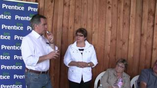 Jim Prentice - His Address to a rural Central Alberta audience